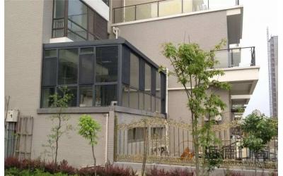 铝合金门窗封阳台案例